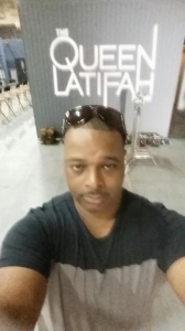 CSS Co-Founder, Robert Jones snaps a selfie backstage at the Queen Latifah Show